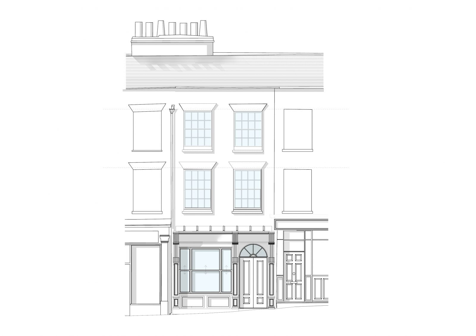 Eton High Street - Front Elevation