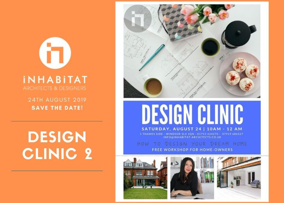 ONE MONTH TO REGISTER TO OUR SECOND FREE DESIGN CLINIC